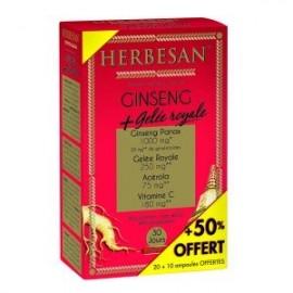 Ginseng-Gelée Royale Herbesan boite de 30 ampoules